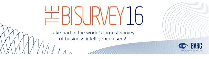 Take part in The BI Survey 16