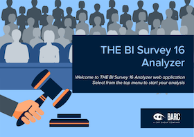 The BI Survey 16 Analyzer