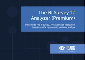The BI Survey 17 Analyzer