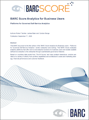 BARC Score Analytics for Business Users