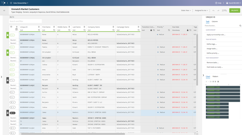 Interface for Talend Data Stewardship