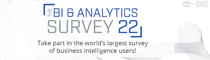 Take part in The BI & Analytics Survey 22